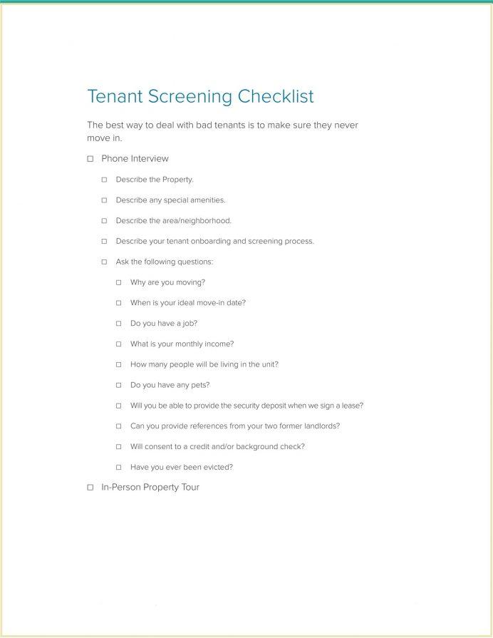 Landlord Tenant Screening Checklist Template Pdf Rental Criteria Form Uk Questions List  For Landlords Sample