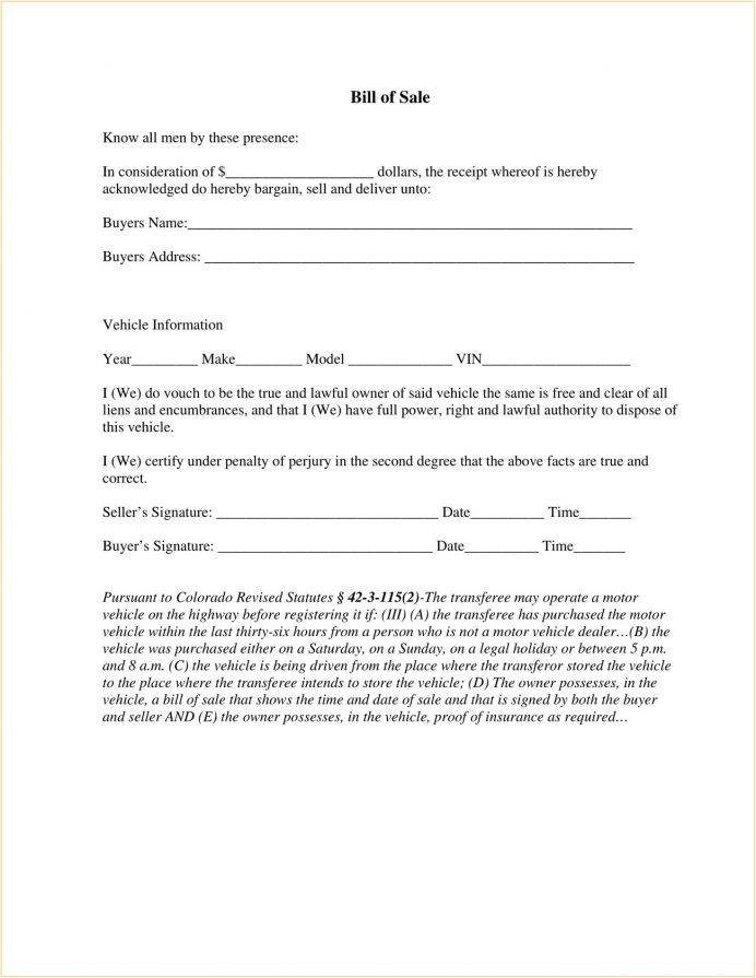 Mesa County Colorado DMV Motor Vehicle Bill of Sale Form PDF Bill Of Sale Colorado Motor Vehicle Bill of Sale Form Template