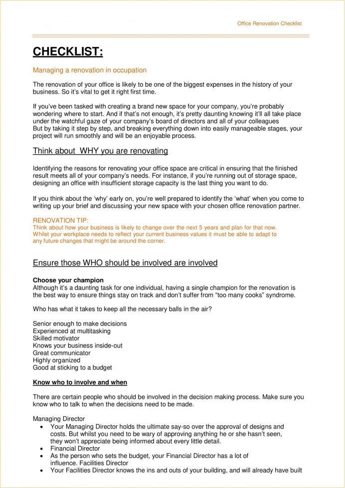 Office Renovation Checklist Template PDF Checklist Example Office Renovation Checklist Template