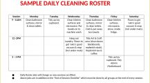 Sample Daily Cleaning Roster Template Word Checklist Daily Cleaning Roster Template Sample