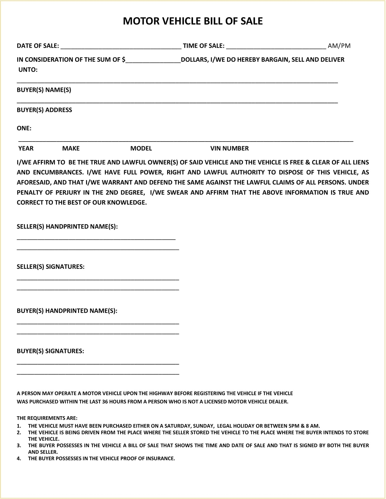 Weld County Colorado DMV Motor Vehicle Bill Of Sale Form PDF Adams Is A Required In Selling Car General Mesa  Template Full