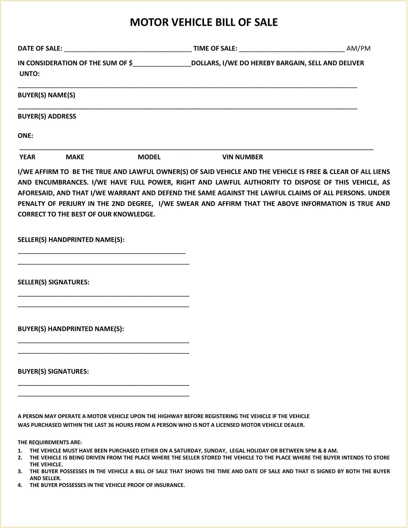 Weld County Colorado DMV Motor Vehicle Bill of Sale Form PDF