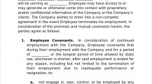 Employee Non Compete Agreement Form Template Word Doc Agreement Employee Non-Compete Agreement Template