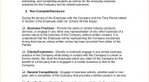 Employee Non Compete Agreement Template Word Doc Agreement Employee Non-Compete Agreement Template