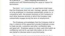 Free Employee Non Compete Agreement Template Word Agreement Employee Non-Compete Agreement Template