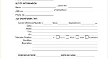Jet Ski Bill of Sale Form Template PDF Bill Of Sale Jet Ski Bill of Sale Form Template Sample