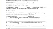 Personal Loan Agreement Form PDF Agreement Sample Personal Loan Agreement Template