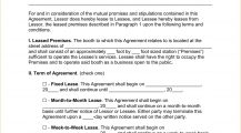 Salon Booth Rental Agreement Template Word Agreement Booth (Salon) Rental Lease Agreement Template Example