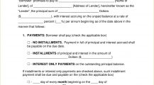 Secured Promissory Note Template PDF Agreement Example Promissory Note Template