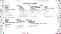 Baby Registry Shopping Checklist Checklist Sample Ultimate Baby Registry Checklist Template