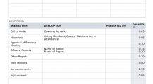 Formal Meeting Agenda Word Template Agenda Sample Meeting Agenda Template