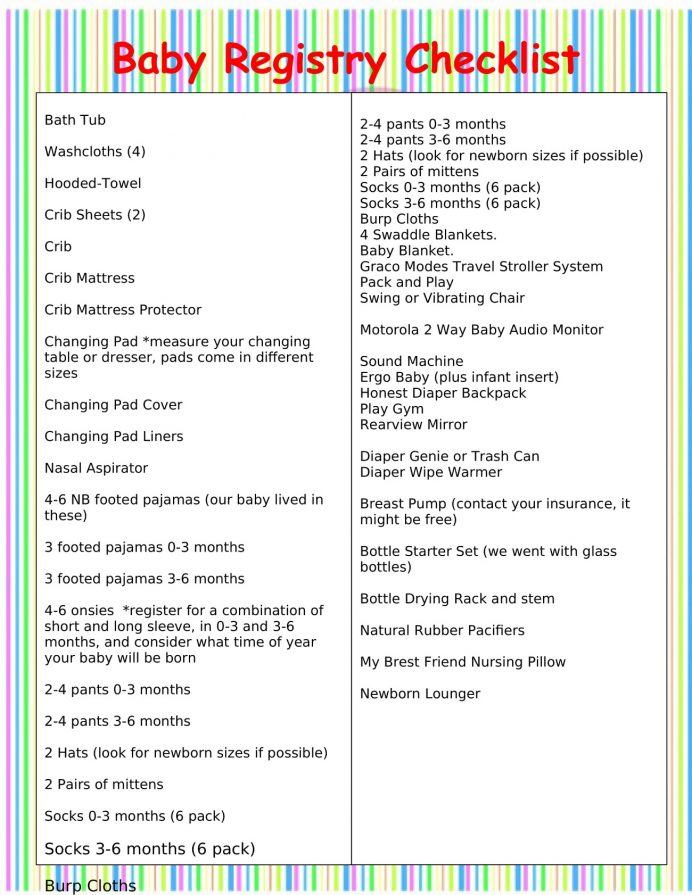 Printable Baby Registry Checklist Template Checklist Sample Ultimate Baby Registry Checklist Template