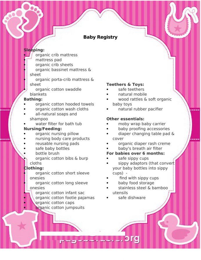 Simple Baby Registry Checklist Word Template Checklist Sample Ultimate Baby Registry Checklist Template