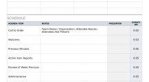 Staff Meeting Agenda Word Template Agenda Sample Meeting Agenda Template