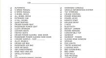 Vehicle Equipment Checklist PDF Template Checklist Equipment Checklist Template Example