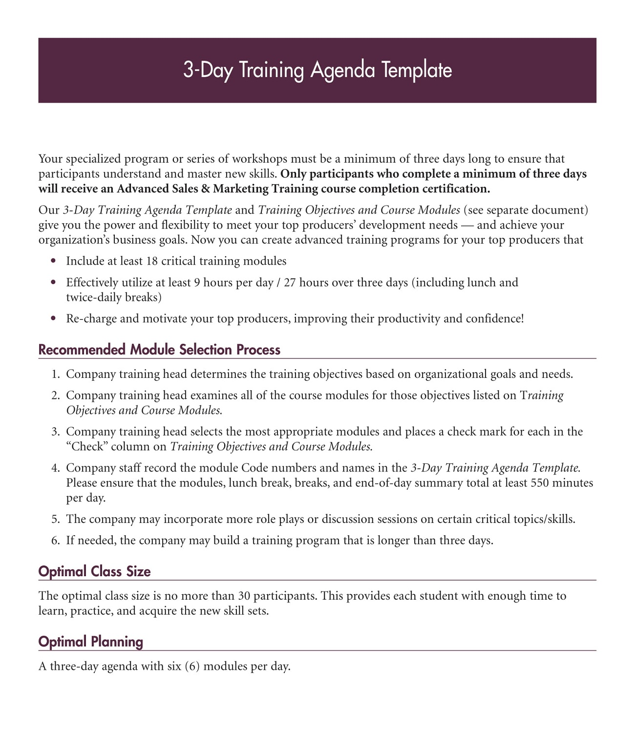 3 Day Training Agenda PDF Template Microsoft Word Ppt How To Create A Pdf Layout  Sample Full