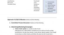 Basic Marketing Meeting Minutes Example Agenda Marketing Meeting Agenda Template Example