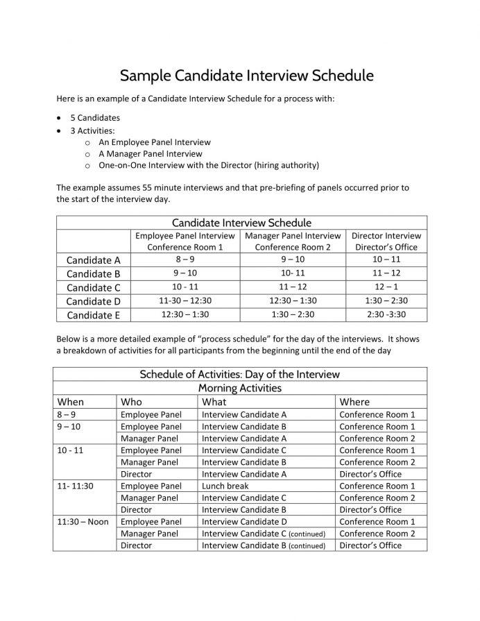 Candidate Interview Agenda Sample PDF Template Agenda Sample Interview Agenda Template