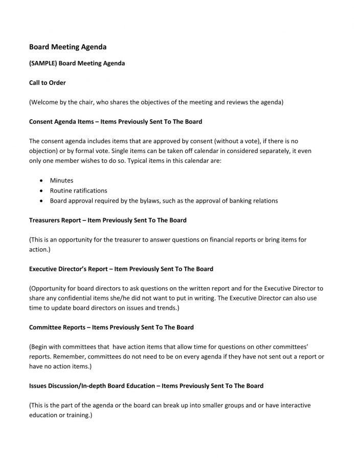 Church Board Meeting Agenda Example Agenda Sample Church Meeting Agenda Template
