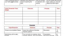 Family Business Meeting Agenda Agenda Example Family Meeting Agenda Template