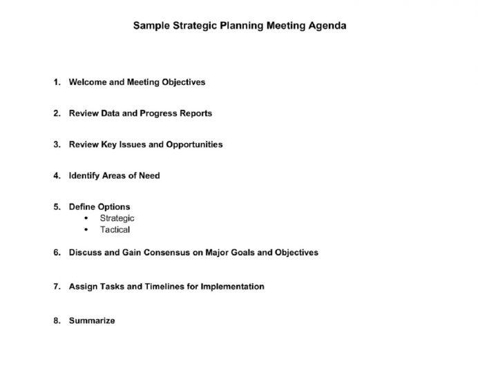 Sample Strategic Planning Meeting Agenda Agenda Sample Strategy Meeting Agenda Template