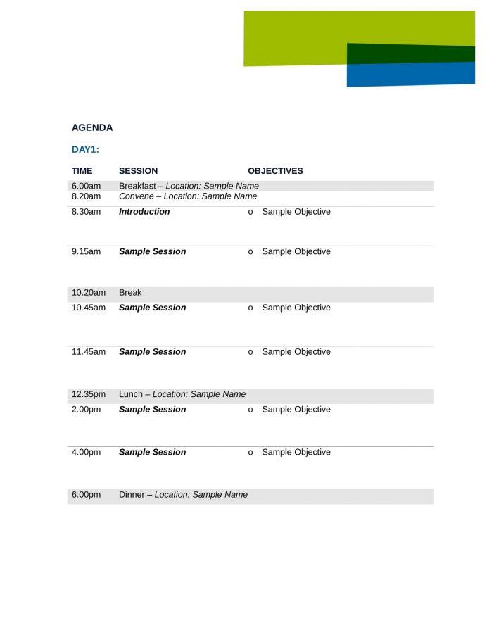 Special Event Agenda Template Agenda Sample Event Agenda Template