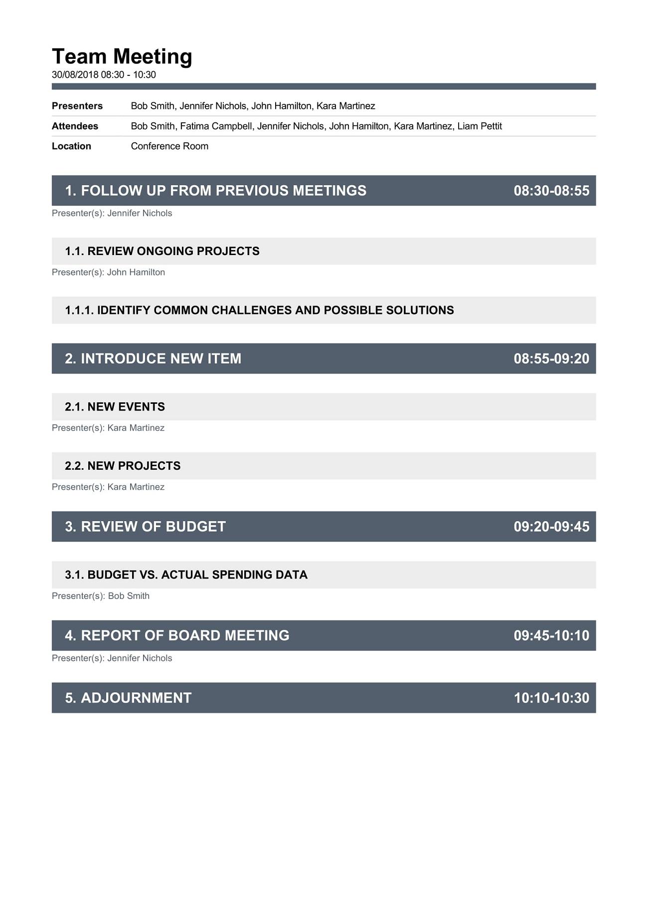 Weekly Team Meeting Agenda Creative Template Word Monthly Best Excel  Example Full