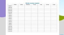 Sample 7 Day Weekly Schedule Template PDF Schedule Sample 7 Day Weekly Schedule Template