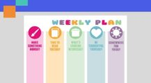 Sample Multicolored Weekly Planer Template PDF Format Schedule Sample Colorful Weekly Planner Template