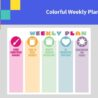 Sample Colorful Weekly Planner Template