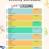 Sample Pre-logging Weekly Schedule Template