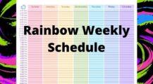 Sample Rainbow Weekly Schedule Template PDF Schedule Sample Rainbow Weekly Schedule Template