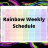 Sample Rainbow Weekly Schedule Template