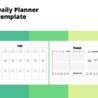 Sample Two Page Daily Planner Template