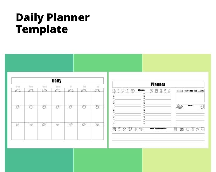 Sample Two Page Daily Planner Template Schedule Sample Two Page Daily Planner Template