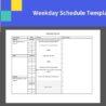Sample Weekday Schedule Template