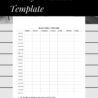Sample Weekly Timetable Template